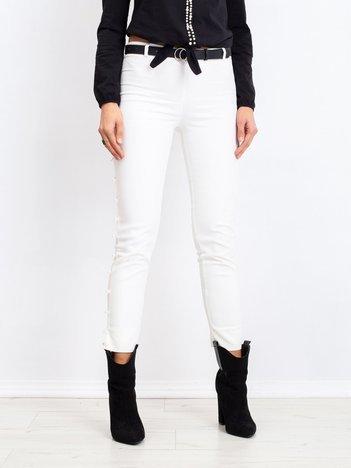 Białe spodnie Pearl