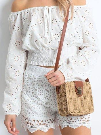 Białe szorty Crochet