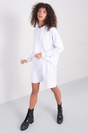 Białe szorty dresowe BSL