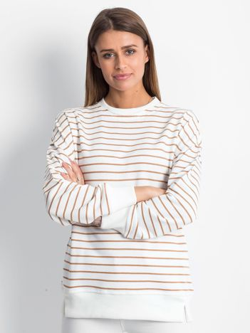 Biało-brązowa bluza Continuously