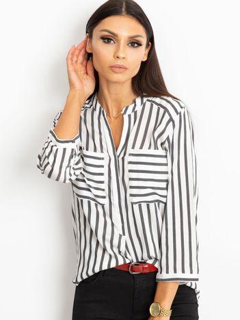 Biało-czarna bluzka Sienna
