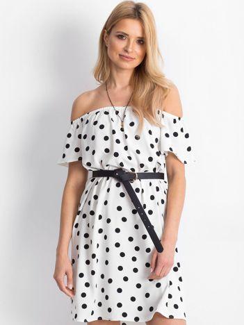 Biało-czarna sukienka hiszpanka Taorminee
