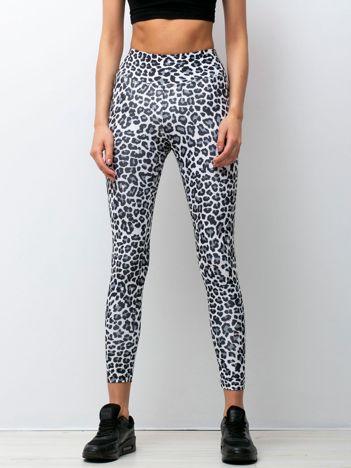 Biało-czarne legginsy Roar