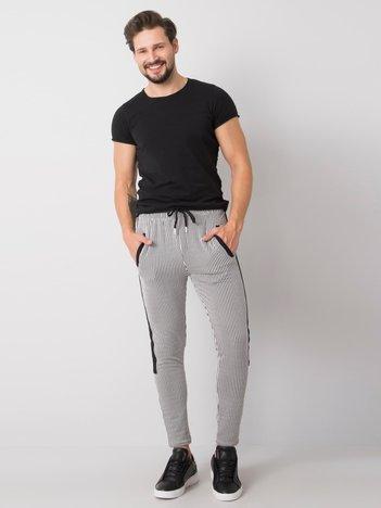 Biało-czarne spodnie dresowe męskie Axel