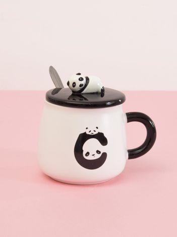 Biało-czarny kubek z pandą