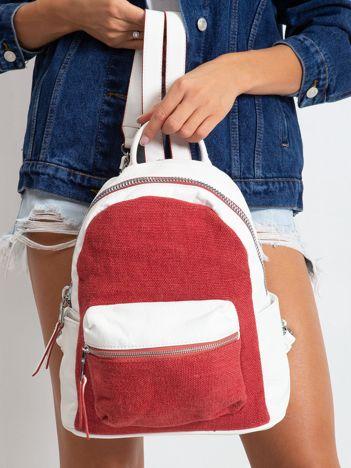 Biało-czerwony plecak