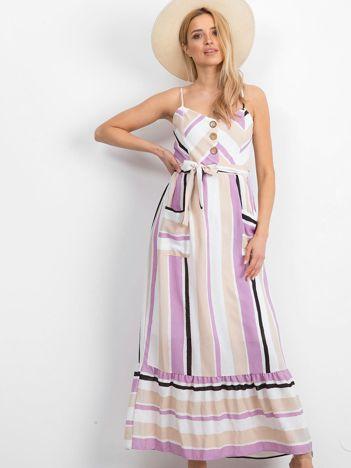 Biało-fioletowa sukienka Evaporate