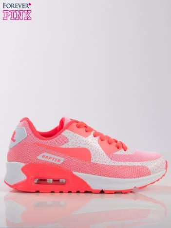 Biało-koralowe buty sportowe na poduszce powietrznej