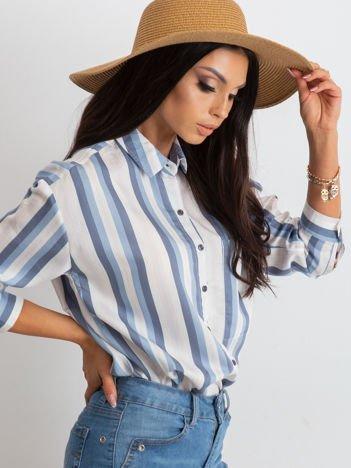 Biało-niebieska koszula Entrancing