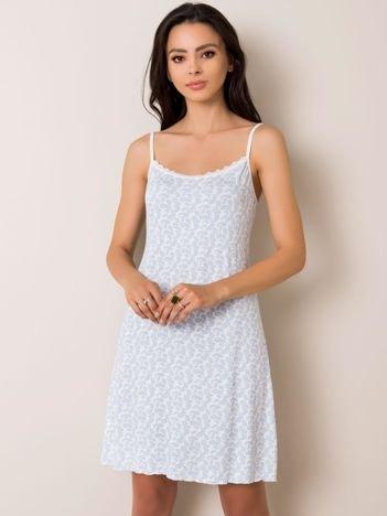 Biało-niebieska koszula nocna Moon