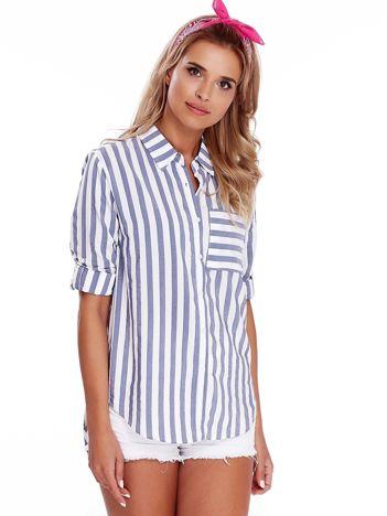 Biało-niebieska koszula w paski