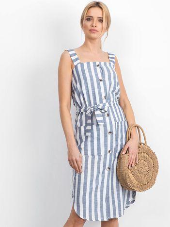 Biało-niebieska sukienka Perilously