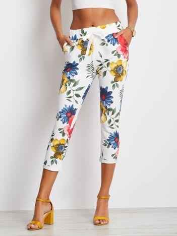 Biało-niebieskie spodnie Roses