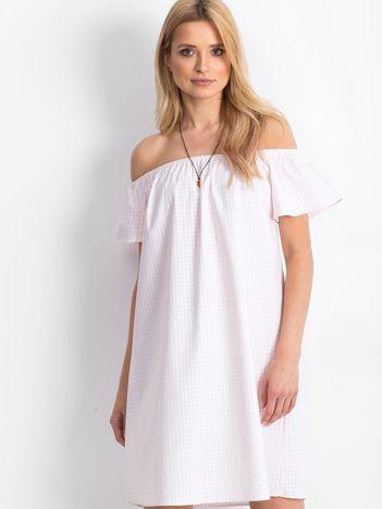 Biało-różowa sukienka Dolly