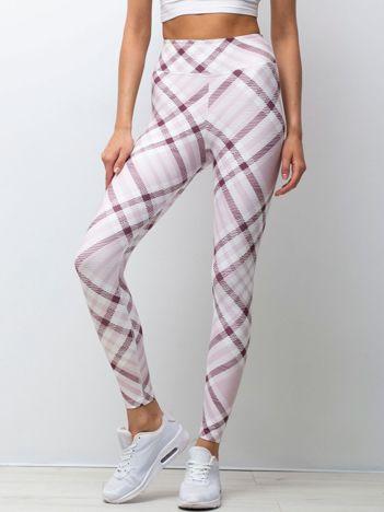 Biało-różowe legginsy Sweeties