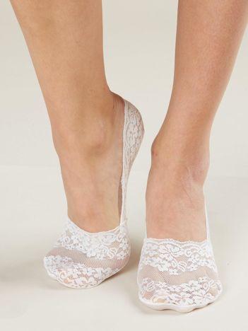 Biało-różowe stopki damskie 2-pak