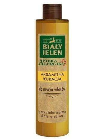 Biały Jeleń Apteka Alergika Aksamitna kuracja do mycia włosów - włosy słabe, matowe - skóra wrażliwa 250 ml