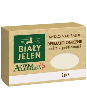 Biały Jeleń Apteka Alergika Mydło naturalne Cynk - skóra z problemami 125g