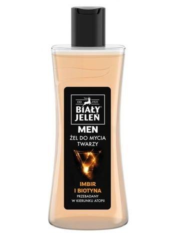 Biały Jeleń Men Żel do mycia twarzy Imbir i Biotyna  265 ml