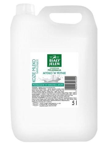 Biały Jeleń Mydło w płynie hipoalergiczne Kozie Mleko 5 L