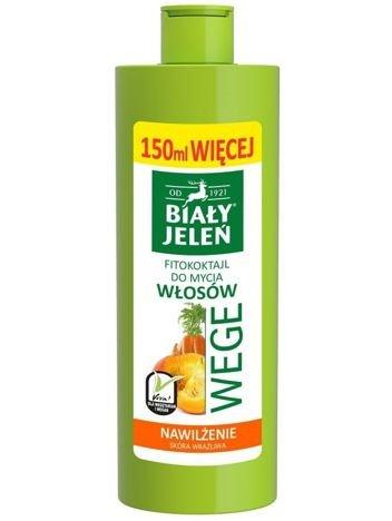 Biały Jeleń Wege Fitokoktajl do mycia włosów nawilżający Marchew i Dynia  400 ml