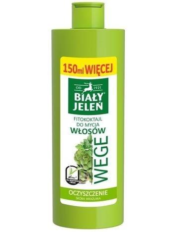 Biały Jeleń Wege Fitokoktajl do mycia włosów oczyszczający Pietruszka i Karczoch  400 ml