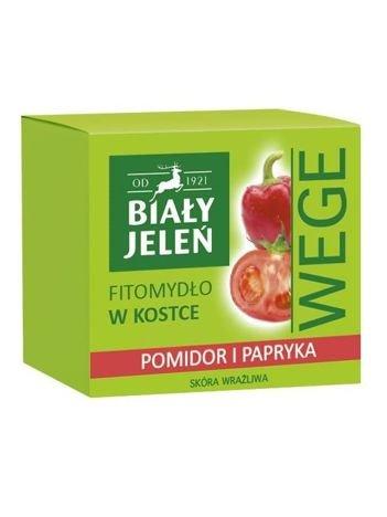 Biały Jeleń Wege Fitomydło w kostce Pomidor i Papryka 130 g