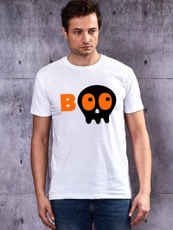 Biały męski t-shirt Halloween