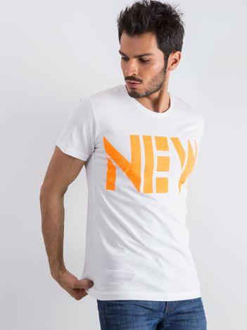 Biały męski t-shirt Public