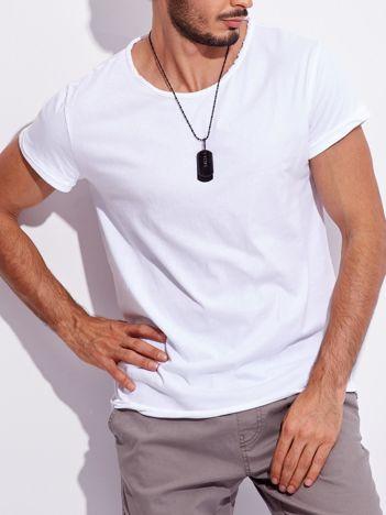 Biały męski t-shirt basic