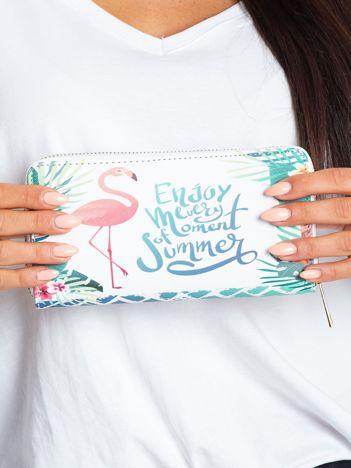 Biały portfel z kolorowym nadrukiem