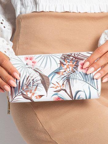 Biały portfel z nadrukiem