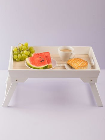 Biały stolik śniadaniowy