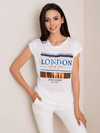 Biały t-shirt City SUBLEVEL
