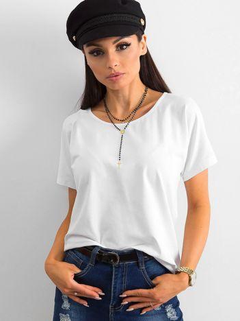 Biały t-shirt Flow