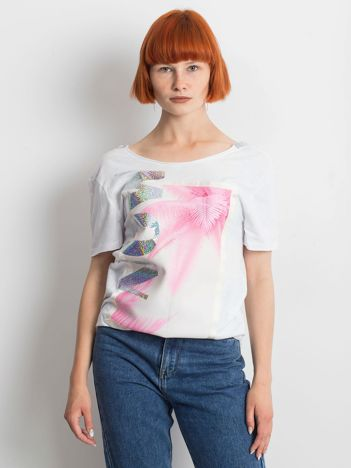 Biały t-shirt Milan