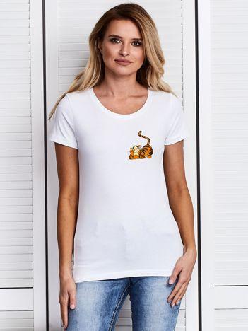 Biały t-shirt WINNIE THE POOH z Tygryskiem