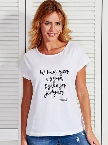 Biały t-shirt damski TYLKO JA JEDYNA by Markus P