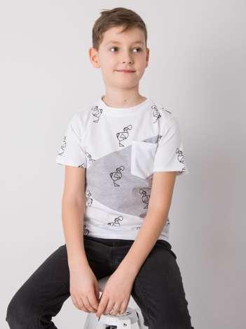 Biały t-shirt dla chłopca DODO KIDS