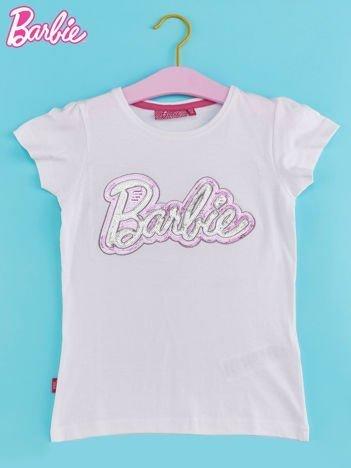 Biały t-shirt dla dziewczynki BARBIE