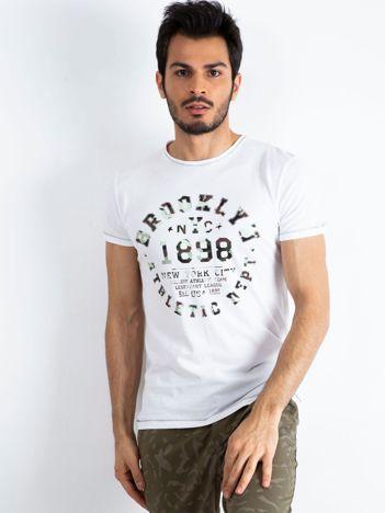 d4981c5643 Biały t-shirt męski College