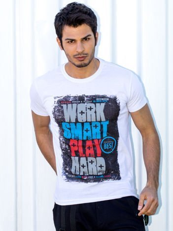 Biały t-shirt męski Work Smart