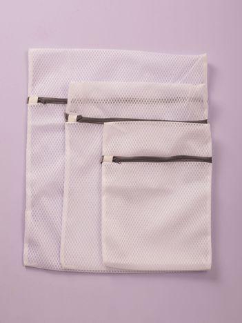 Biały zestaw worków do prania 3 szt.
