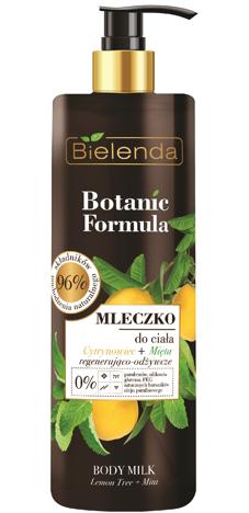 Bielenda Botanic Formula Cytrynowiec+Mięta Mleczko do ciała regenerująco - odżywcze 400ml