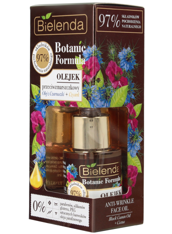 Bielenda Botanic Formula Olej z Czarnuszki+Czystek Olejek przeciwzmarszczkowy do twarzy 15ml
