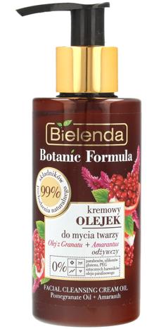 Bielenda Botanic Formula Olej z Granatu+Amarantus Kremowy Olejek odżywczy do mycia twarzy 140ml