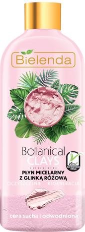 Bielenda Botanical Clays Różowa Glinka Płyn micelarny do twarzy cera sucha i wrażliwa 500 ml