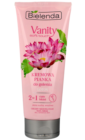 Bielenda Vanity Soft Touch Kremowa Pianka do golenia 2w1 Lotos 175g