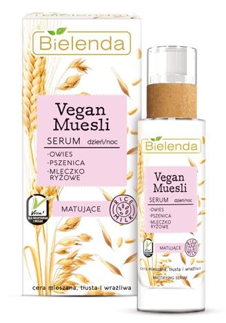 Bielenda Vegan Muesli Serum matujące na dzień i noc - cera mieszana, tłusta, wrażliwa 30 ml