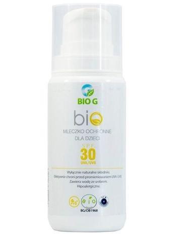 BioG Hipoalergiczne naturalne mleczko do opalania SPF 30 100 ml